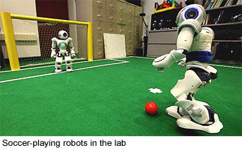 Soccer robots in the lab